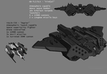 UNSC Kindjal Fighter and Rapier Drone by Kwibl