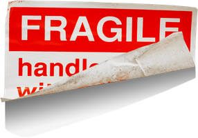 Fragile label transparent png by AbsurdWordPreferred
