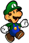Luigi (Modern)- Super Paper Mario 10th by Fawfulthegreat64