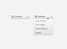Settings Drop Down Menu (PSD) by softarea