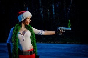 New Year's Lara Croft - personal Christmas tree by TanyaCroft