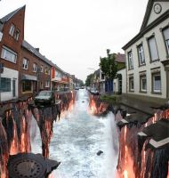 3D illusions: the lava by Man-Of-World