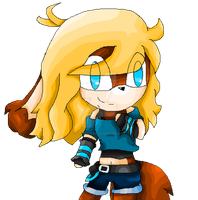 ::Com.:: Luchy the vampire fox chibi by Nite3007
