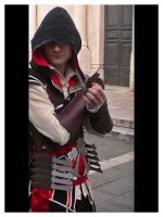Ezio Auditore Cosplay 03 by darksidecry