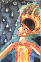 The girl on fire by 1conchi
