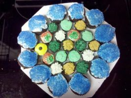 Settlers Of Catan Cupcake Board by wickedwitchinc