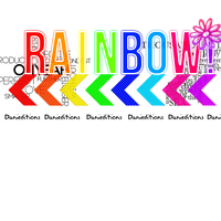Texto Png Rainbow by xDaniela