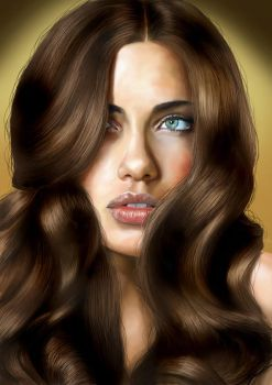 Adriana Lima Portrait by maddrawings