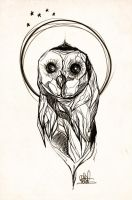 Owl - Rough Sketch by whikiko