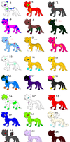 24 Cat Adoptables! by Helkie-three