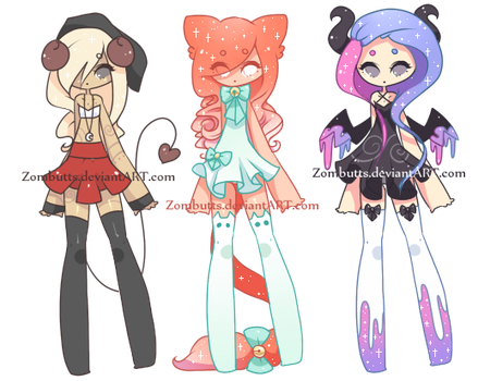 Thigh High Adoptables Batch 7: CLOSED by Fawniive
