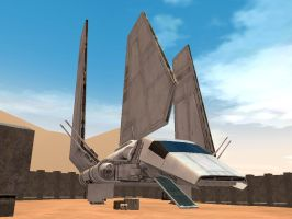 Star Wars Lambda Shuttle by Augos