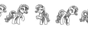Rarity Sketches #1 by KP-ShadowSquirrel