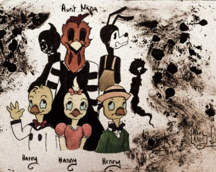 Bendy and the nephews of Nana (fanfiction) by MarylandsDrawing2525