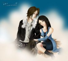 Squall and Rinoa fanart by Weeevil