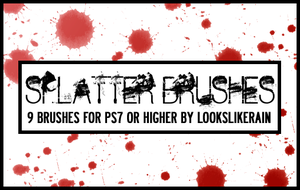 Splatter brush set by lookslikerain