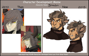 Braeden Character Development by Mikaces