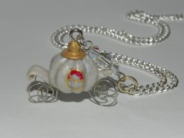 Cinderella's Pumpkin Coach Necklace, Once Upon a T by Secretvixen
