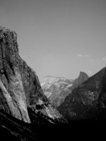 Half Dome at a Distance by xXlokiXx