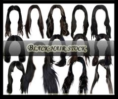 Black Hair Pack2 by Owl666PS