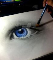 realistic eye by neilserias
