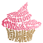 Pink Cupcake Typography by Raccoonish