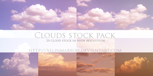 Clouds stock pack by selinmarsou