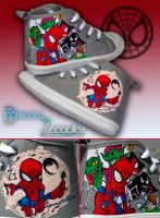 Little Spiderman Shoes by Raw-J