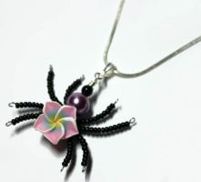 Beaded Spider Perfume Pendant 2 by Create-A-Pendant