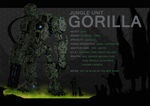 Jungle Unit: Gorilla by thedeadwarrior