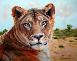 Lioness - soft pastel by sschukina