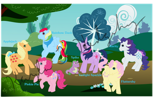 The Mane Six (In the Key of G1) by kaylathehedgehog