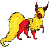 Volcanic Flareon for Flarezi by Moonstar10