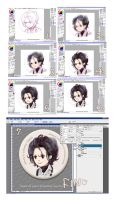 making Process of Edward Pin by amoykid