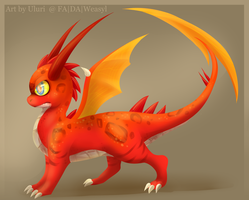 Fuarin the Dragon by Uluri