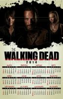 The Walking Dead - Spanish Wall Calendar 2014 by rickymanson