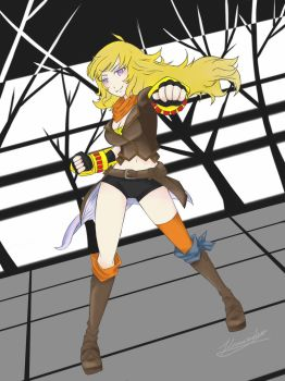 Yang from RWBY by LlamaRider