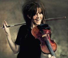 Lindsey Stirling Painting by Atavius
