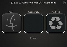 Flurry style Mac OS System icons by opla457