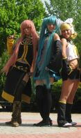 Luka - Miku - Rin Vocaloid Cosplay by AsleepPanther