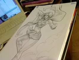 Super Girl pencil by CrisDelaraArt