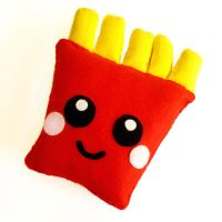 French Fries Plushie by LittleMissDelicious