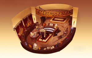 Captain's Office Concept by soulfinder90