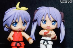 Hiiragi Siblings Street Fighter IV version by shawn2death