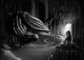 Lighting exercise for school - No. It's not Smaug! by Aialeth-Kyresh