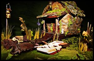 """Bayou Backwoods"" Faerie Cottage by SaraAnnDiPity"