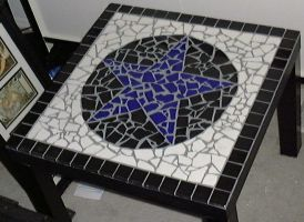 Mosaic Tile Pentacle Table blk by alanahawk