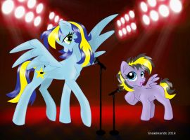 MLP OCs Tempest and Star Dasher perform by snakehands