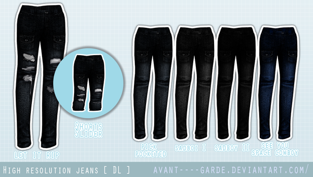 High Resolution Jeans [ Commission + DL ] by avant----garde