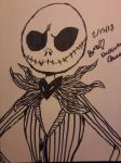 Jack Skelington {INK} by WardenDarkwingArtist